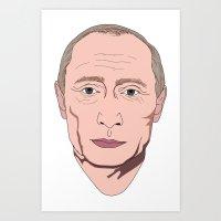 putin Art Prints featuring Putin by Ricardo Miranda Zuniga