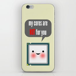 Cute blushing CPU My cores are hot for you iPhone Skin