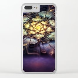 Flower light effect Clear iPhone Case