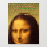 art history Canvas Prints featuring Dancing with Art History by Ira Carter
