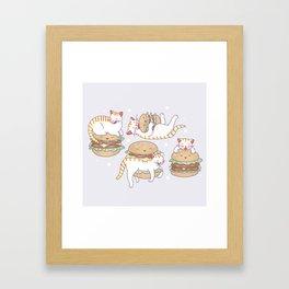 Cat burgers Framed Art Print