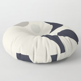 Moons of Saturn Floor Pillow