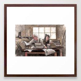 Family Book Shop Framed Art Print