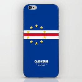 Cabo Verde case iPhone Skin