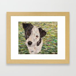 Lily on Green Background Framed Art Print
