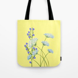 My Kentucky Wild Flowers, Queen Anne Lace and Flax Tote Bag