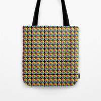matrix Tote Bags featuring Spectral Matrix by Phil Perkins