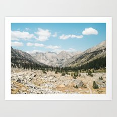 Rae Lakes - Kings Canyon II Art Print