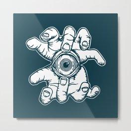 Open Your Eye Metal Print