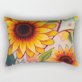 Sunflower Power 1 Rectangular Pillow