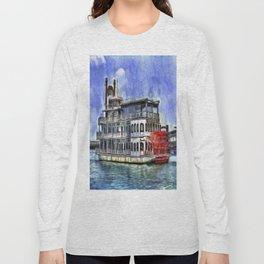 New Orleans Paddle Steamer Van Goth Long Sleeve T-shirt