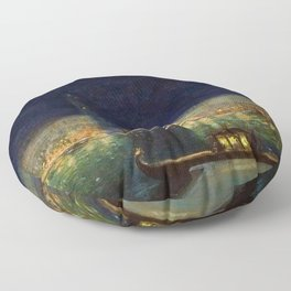 Venice, Italy Pageant, St Mark's Basilica & Campanile bell tower by Thomas Mostyn Floor Pillow