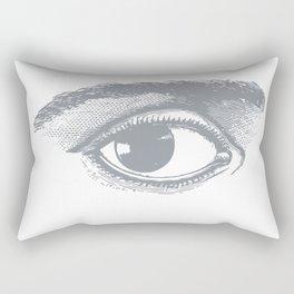 I see you. Gray on White Rectangular Pillow