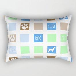 Fun Dog Tiles Pattern Rectangular Pillow