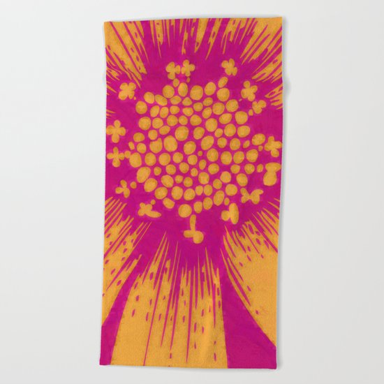 Fantasy of flower Beach Towel
