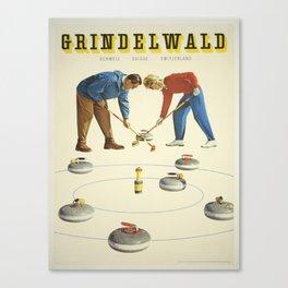 Vintage poster - Grindelwald Canvas Print