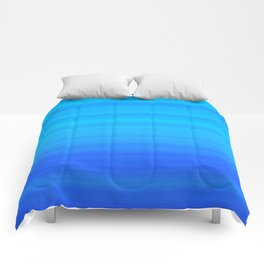 Blue Sea Stripes Comforters