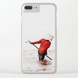 Vietnam fishing Clear iPhone Case
