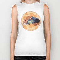 beauty and the beast Biker Tanks featuring Beauty and the Beast by Naineuh