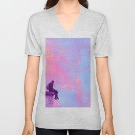 Head in the Candy Clouds Unisex V-Neck