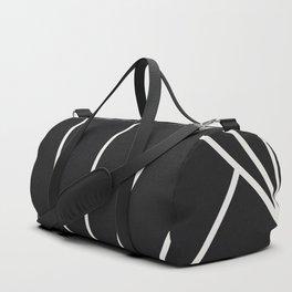 Diamond Series Sun Burst White on Charcoal Duffle Bag