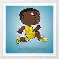 runner Art Prints featuring Runner by Jordygraph