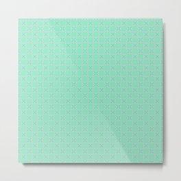 Mint Green Abstract V Metal Print