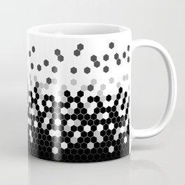 Flat Tech Camouflage White and Black Coffee Mug