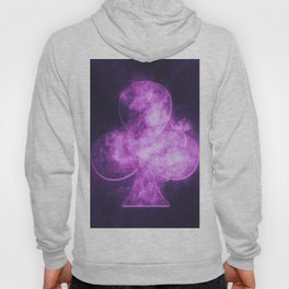 Clubs symbol. Playing card. Abstract night sky background Hoody