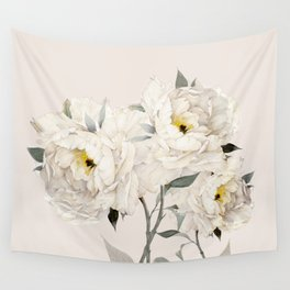 White Peonies Wall Tapestry
