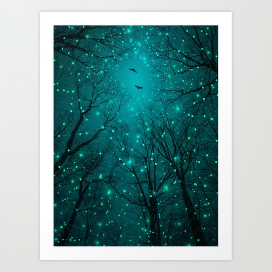 One by One, the Infinite Stars Blossomed Art Print