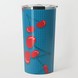 chery blue Travel Mug