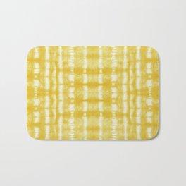 Yellow Itajime Shibori Bath Mat