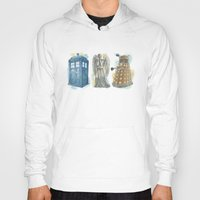 dr who Hoodies featuring Dr Who by Iris Illustration