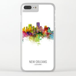 New Orleans Louisiana Skyline Clear iPhone Case