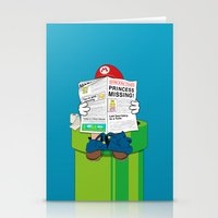 super mario Stationery Cards featuring Mario by Altay