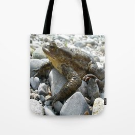 Bufo Bufo Toad Lounging On Stones Tote Bag
