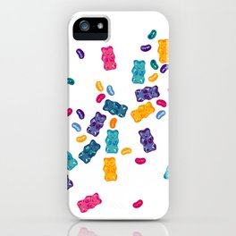 Sweet Jelly Beans & Gummy Bears iPhone Case