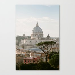 St. Peter's Basilica at Sunset Canvas Print