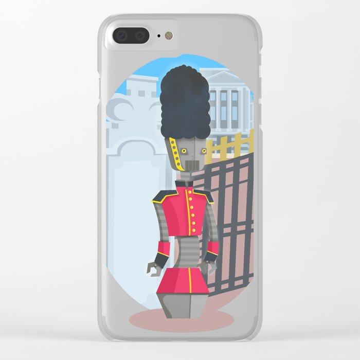 Queen's Beep Boop Guard Clear iPhone Case