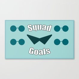 Squirtle Squad Goals Canvas Print