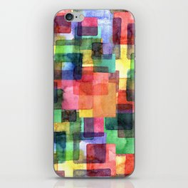 Watercolor blots plaid :) iPhone Skin