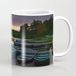 Stunning Lake Front Marina Sunset Coffee Mug