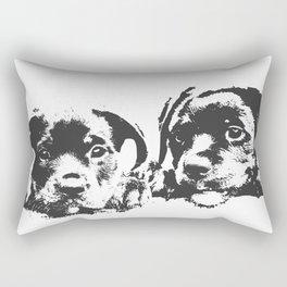 Rottweiler puppies Rectangular Pillow