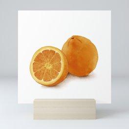 Watercolor Illustration of Citrus Mini Art Print