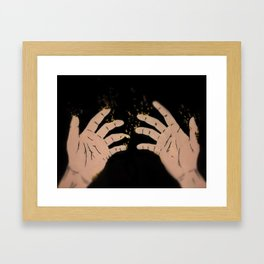 Fade to gold Framed Art Print