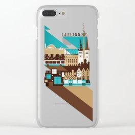 Tallinn Summer Retro Clear iPhone Case