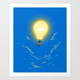Let the light lead the way Art Print