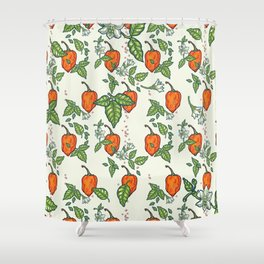 hot habanero Shower Curtain