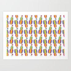 Circus Birdcages Art Print